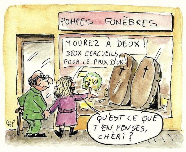 Humour noir centerblog - Les deux minutes du peuple le salon funeraire ...